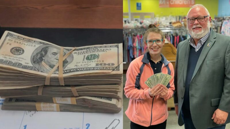 Oklahoma Goodwill Employee Finds $42,000 Hidden in Donated Clothing –And Her Integrity Pays Off